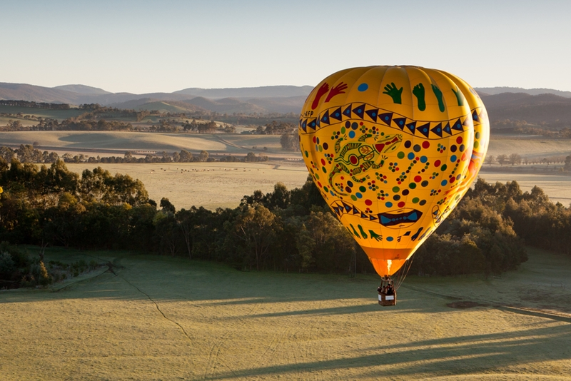 Make the moment unforgettable and ask the love of your life to marry you over the Yarra Valley.