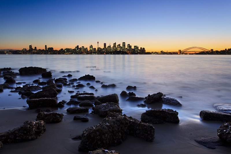 Beach views of Sydney Harbour